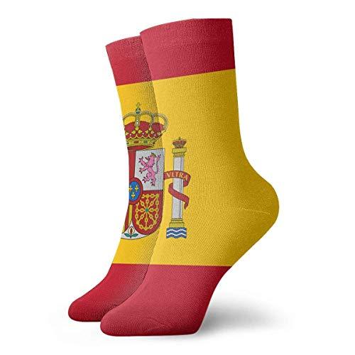 winterwang Crew Socks Flag Of Spain Novedad Calcetines deportivos de compresión al tobillo