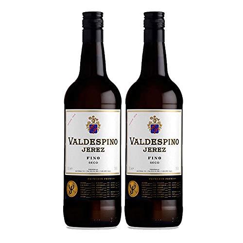 Vino Jerez Seco Valdespino de 75 cl - D.O. Jerez - Bodegas Grupo Estevez (Pack de 2 botellas)