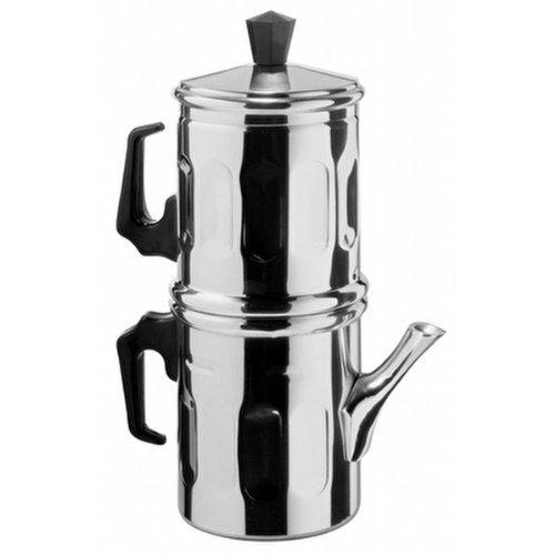 Ilsa Napoletana 0006 009 - Cafetera de aluminio pulido para 9 tazas
