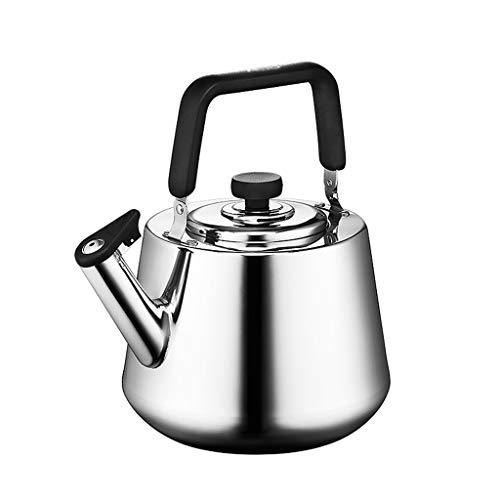 Stainless Steel Whistling Tea Kettle Modern Whistling Theepot Theepot Voor Stove Top Thicken 4LLarge Capaciteit Geschikt voor gaskachels Grip ergonomische handgreep