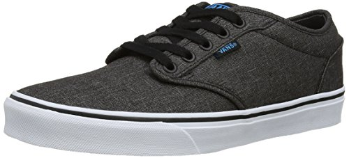 Vans Men's Low-Top Trainers, Grey Black Hawaiian Ocean Textile, 44