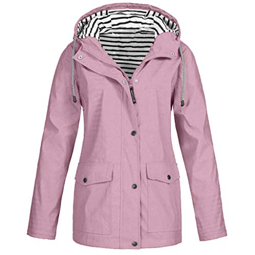 Reooly-Windbreaker Transition Jacket Chaqueta Impermeable para Mujer Chaqueta Transpirable con Capucha Chaqueta para Exteriores