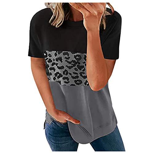 Damen T-Shirt Top Sommer Kurzarm Shirts Baumwoll Tee Oberteile Frauen Tank Tops, Sonnenblume Printed Weste T-Shirt Sport BH Kabellos Basic Tee Crop Top