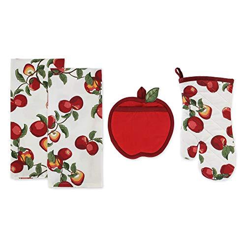 DII Apple Orchard Kitchen Textiles, Apron, 4 Piece
