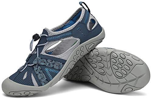 SAGUARO Sandalias de Verano para Mujer Antideslizante Sandalias Deportivas de Playa Zapatillas de Montaña Senderismo Azul Oscuro 37 EU