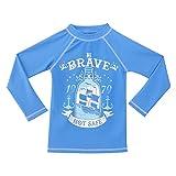 TIZAX Camiseta UV de Manga Larga para ni├▒os Traje de ba├▒o con UPF 50+ protecci├│n Solar Rashguard para Surf/Nadando/Buceo/Playa Azul 104