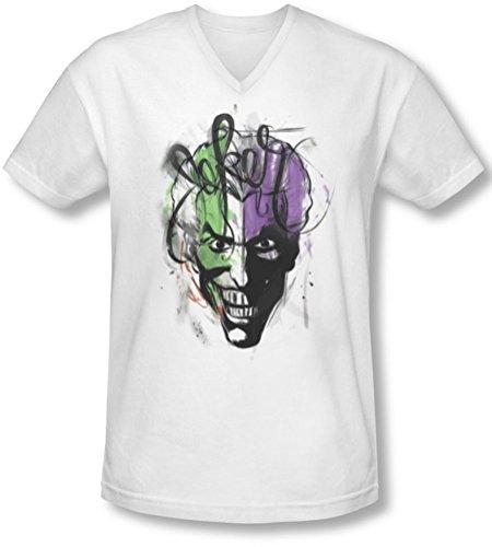 Batman–Joker Airbrush Herren V-Ausschnitt T-Shirt