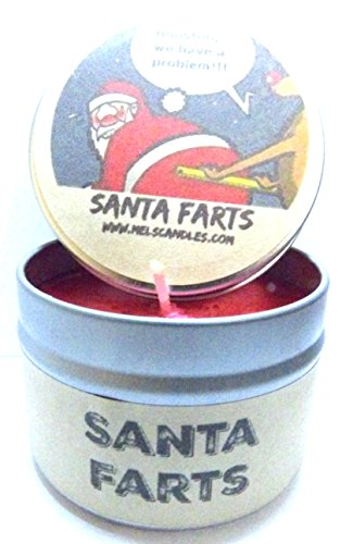 Santa Farts 4oz All Natural Soy Candle Tin Fun Christmas Novelty Candle