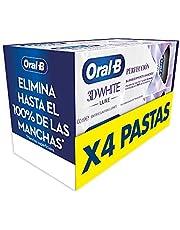 Oral-B 3DWhite Luxe Perfección Pasta de Dientes Blanqueante, Pack de 4, enviado en un cartón reciclado, Dientes más blancos y Aliento fresco (4x100 ml)