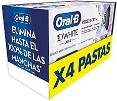 Oral-B 3DWhite Luxe Perfección Pasta de Dientes Blanqueante, Pack de 4, enviado en un cartón reciclado, Dientes más...