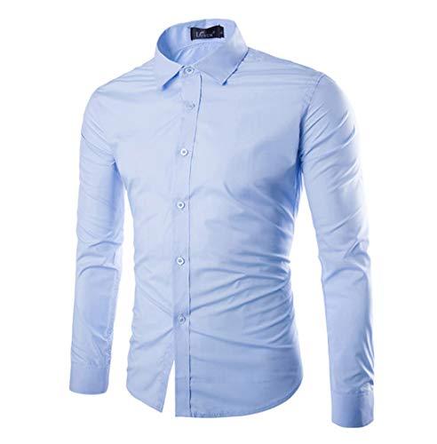 Herren Funky Floral Checked Shirt Lässiges Langarmhemd Button Langarmhemden Printed T-Shirt Kariertes Einfarbiges Hemd,L