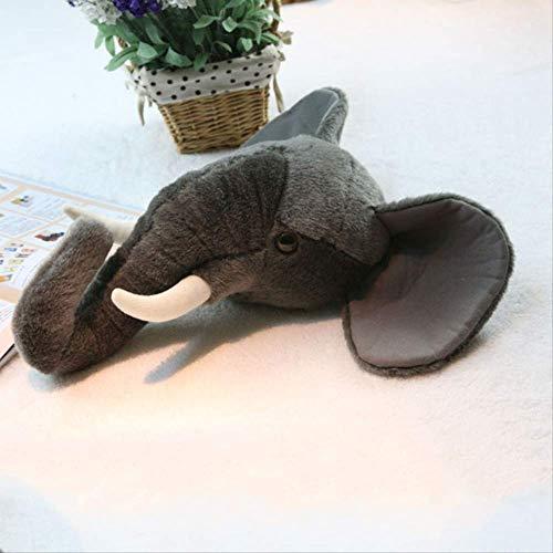 pluche dieren speelgoed,Nieuwe Pp Katoenen Wanddecoratie Simulatie Dierenkop Knuffel Olifant Hoofd Pop Ornamenten Gehurkt 38 * 18cm a