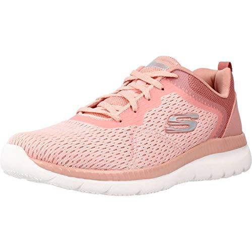SKECHERS - Zapatillas Deportivas con Cordones Suela de Goma, para: Mujer Color: Rosa Talla:40