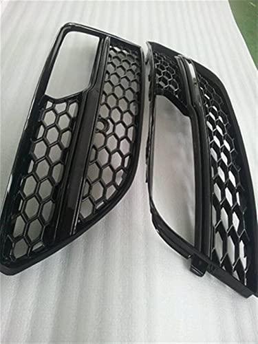 XJX A3 FOGLAMP Máscara Frente Bumper Airway Mask Airway Outlet Grills Fog Light Grille Fit para Audi A3 Hatchback 2013 2014 2015 2016 2016 (Color : Full Black)