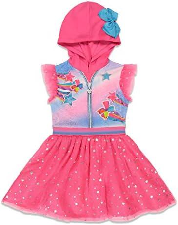 JoJo Siwa Big Girls Hooded Costume Flutter Sleeved Dress Bow Pink 14 16 product image