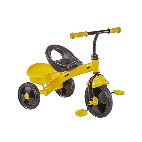 Niños Juguetes Bici del Bebé Niños del Triciclo Niños Y Niñas Trasera Cesta Grande Antideslizante del Pedal Asiento Portable del Mejor Regalo For Los Niños (Color : Yellow)