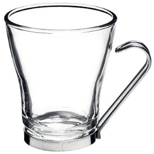 Bormioli Rocco 1327523 Oslo Confezione 3 Bicchieri per Cappuccio con Manico, 22 cl, Bamboo, 3 pz