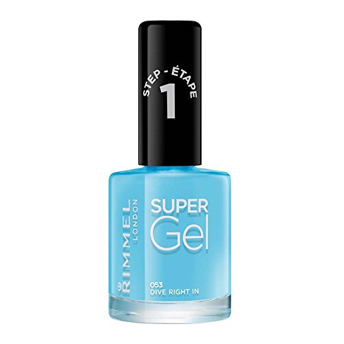 Rimmel London Super Gel van Kate Moss nagellak Duo Pack, Shade 12, Soul Session, huidskleur + gellak