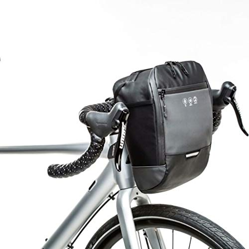 Bolsa para manillar de bicicleta impermeable reflectante resistente al desgarro, bolsas para cuadros de bicicleta, bolsa para scooter eléctrico Bolsa para bicicleta, negro, 20,5 cm × 20 cm × 14 cm