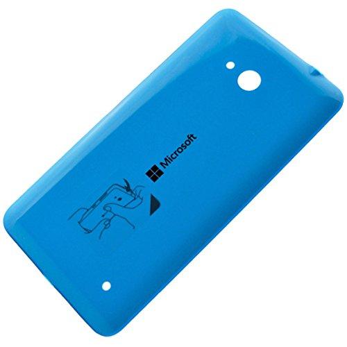 Original Akkudeckel cyan für Microsoft Lumia 640, 640 Dual Sim, 640 LTE & 640 LTE Dual Sim