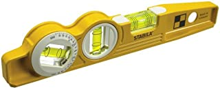 Stabila 25360 Die Cast Magnetic Torpedo with 360-degree vial and V-groove frame