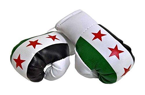Sportfanshop24 Mini Boxhandschuhe SYRIEN, 1 Paar (2 Stück) Miniboxhandschuhe z. B. für Auto-Innenspiegel