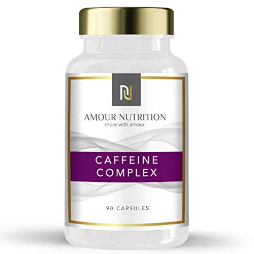 Amour Nutrition Caffeine Complex, 6 Ingredient Blend Including Chromium, Green Tea, B Vitamins UK Made Quality Assured