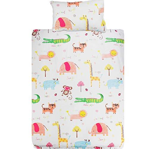 Cot Bedding Set - 100% Cotton 100X135CM Cot Duvet Cover + Pillowcase for Toddler