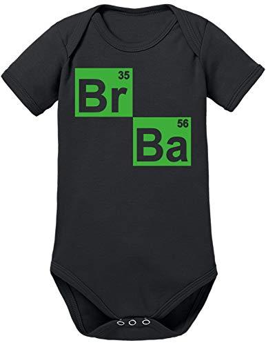TShirt-People BR BA Formel - Body para bebé Negro 0-3 Meses