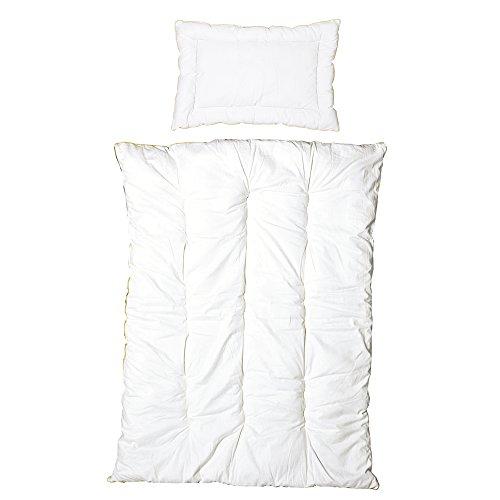 roba Kindersteppbett, Ganzjahres Baby-Bettset (Inlett), Steppbett weiß, Decke 100x135 cm & Kissen 40x60 cm