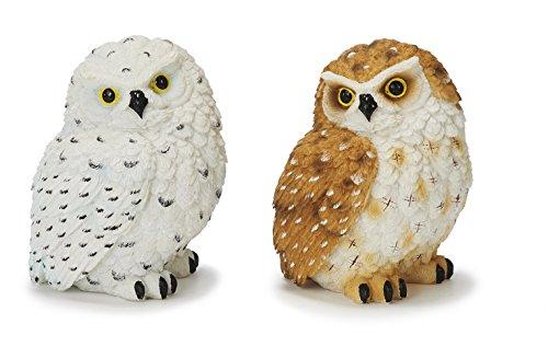 Deko Eulen 2erSet ca. 11 cm, Dekoration Figur Figuren Tiere Eule Vogel Uhu neu
