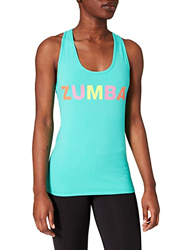Zumba Suave Entrenamient Racerback Tops Mujer Activewear Ropa Hippie Top Deportivo De Moda Tank, Bold and Blue, X-Small Womens