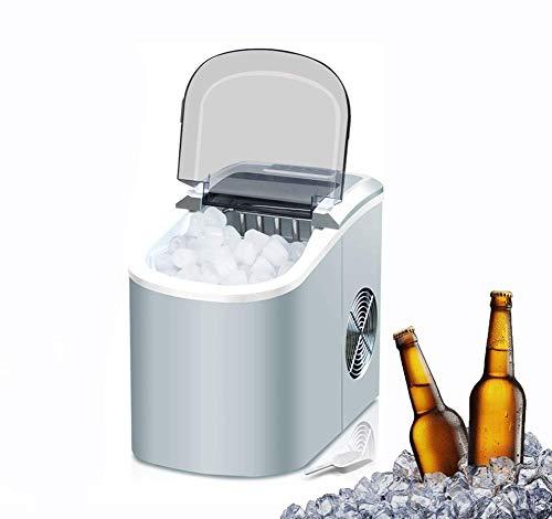 WJSW Tragbare Eismaschine, für Arbeitsplatte, Machen 33 Pfund EIS in 24 Stunden mit LED-Anzeige, Eiswürfel in 6 Minuten mit Eisschaufel und Korb fertig