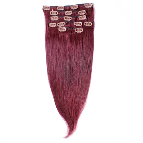 Just Beautiful Hair and Cosmetics Extensions capillaires à clip de fixation Cheveux naturels Remy 70 cm