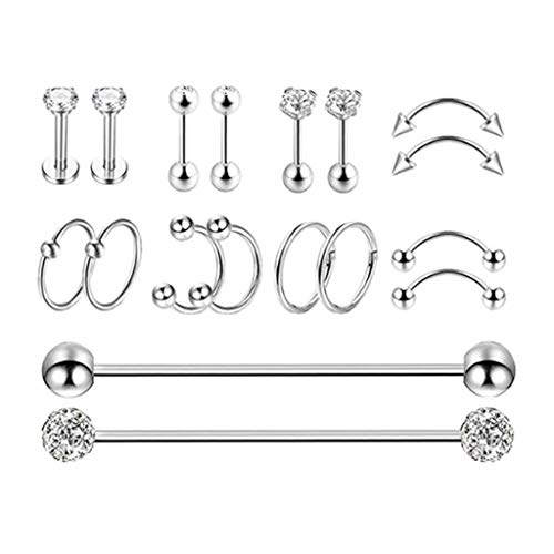 Amuzocity 9 Pairs Jewelry Kit Different Types for Women