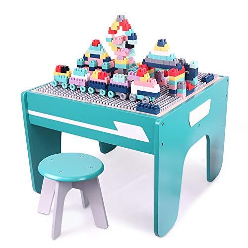 Bouwstenen Tafel, Kunststof Geassembleerde Speeltafel Multifunctionele Studietafel Geschikt Voor Jongens En Meisjes Van 3-6-8 Jaar