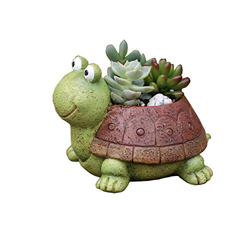 Youfui Turtle Plant Pot Flowerpot Animal Garden Pots Resin Succulent Pots Planter Bonsai Plant Holder for Home Office Desk Mini Ornament