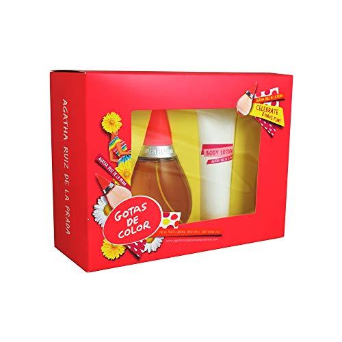 GOTAS DE COLOR DE AGATHA RUIZ DE LA PRADA - Eau de Toilette Natural Spray 100 ml + Body Lotion 75 ml