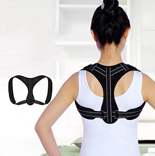 SGLL Rückenorthese mit reflektierenden Streifen für Männer und Frauen zur Unterstützung der Haltung, Verbesserung der Haltung, der Schultern, der Trägheit und der Schmerzen