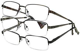 Design Optics Semi-Rimless Classic Reading Glasses +1.50 (3 count, includes cases)