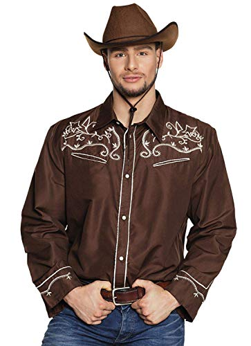 Boland 54332 Western - Camiseta (Talla M), Color marrón