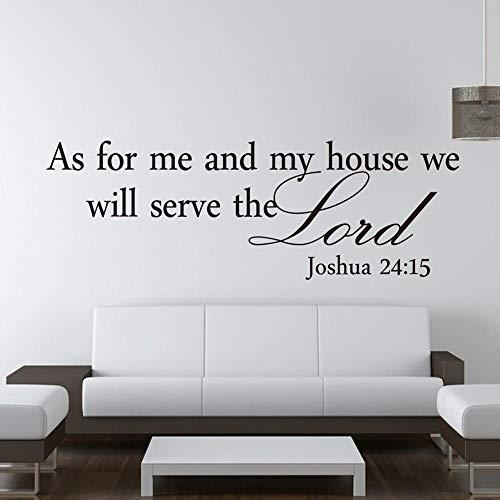 Lo último caliente Joshua 24:15 cita pegatinas de pared biblia escritura principal pegatinas extraíbles decoración de la habitación de bricolaje A6 19x57cm