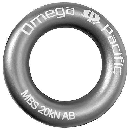 Omega Pacific Rappel Ring, Gray, Forged Aluminum Aircraft Alloy for Bail-Outs and Rap Stations