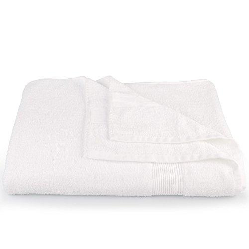 CelinaTex Bari Saunatuch XXL 90 x 220 cm weiß Baumwolle Frottee Handtuch Badetuch Saunahandtuch