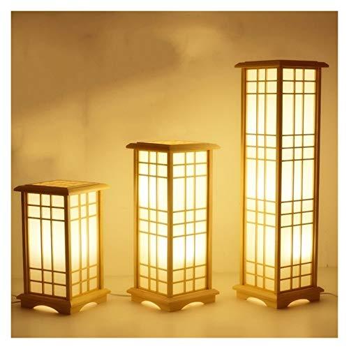GZXYKJ Lampara de pie Forma Moderna Tatami japonés Cuadrado de Madera de Roble de Madera Maciza Lámpara de pie LED E27 Lámparas de pie de la Sala de Estar Pasillo Inicio Decoración de la habitación