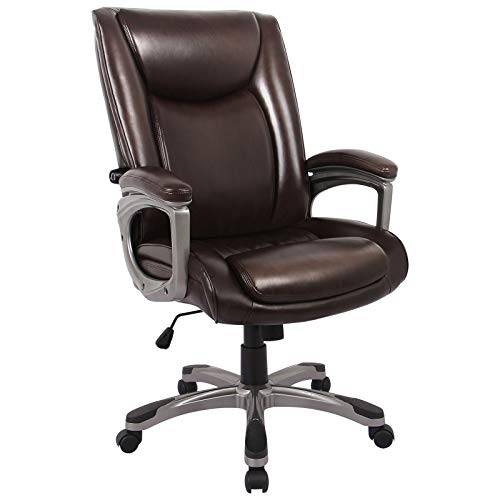 RIMIKING Executive Office Chair - Adjustable Height Built-in Lumbar Support Tilt Angle Computer Desk Chair, Swivel Task Thick Padded for Comfort