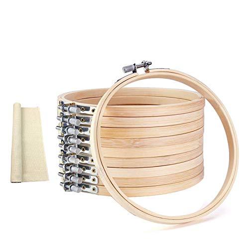 LMYJ Borduurhoepels Bamboe Cirkel Cross Stitch Hoop Ring 3 Inch 10 Stukken Bulk Groothandel voor Kunst Handwerk Naaien