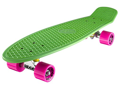 Ridge Skateboard Big Brother Nickel 69 cm Mini Cruiser, grün/rosa