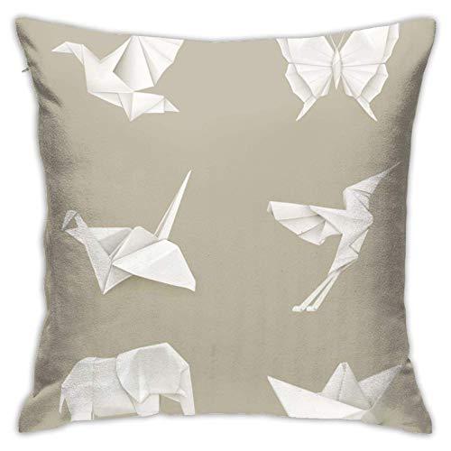 FENGBIN Origami Weiß Wenn Sie Sich auf dem Sofa ausruhen, können Sie Sich auf das Kissen stützen