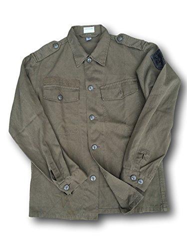 Camicia da uomo vintage dell'Esercito Austriaco, verde militare, Green, L